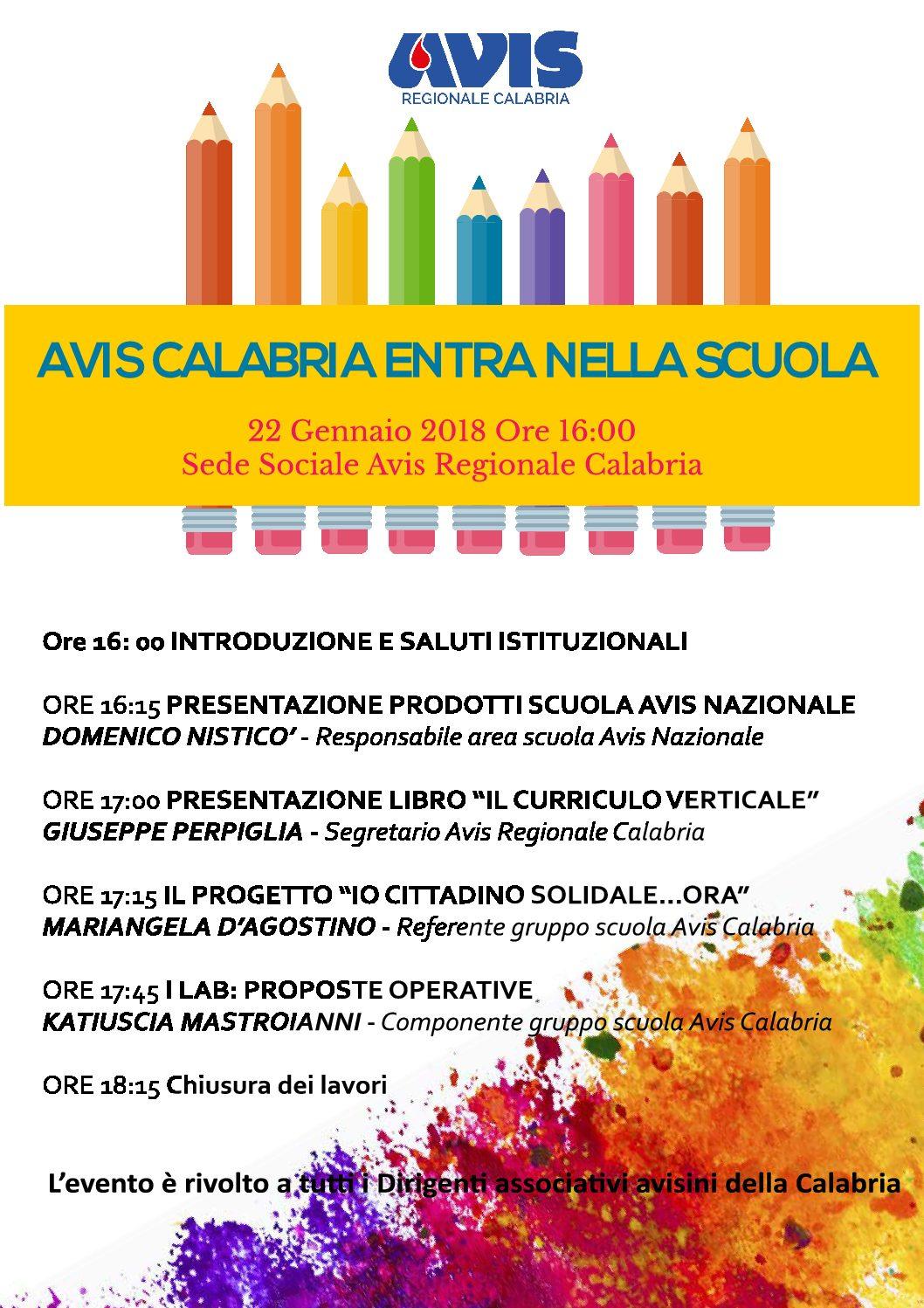 """""""Avis Calabria entra nella scuola"""": progetti e prodotti per la scuola"""